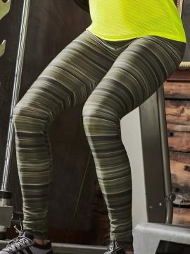 Legging de sport à rayures - 63638