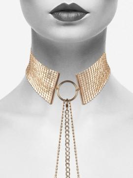 Désir Métallique - Collier en mailles métalliques dorées