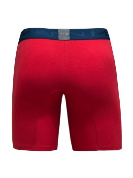 Duo boxer long en coton assorti - 23934