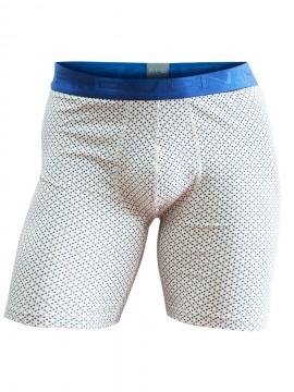 Boxer long en coton à motifs petits pois - 25524