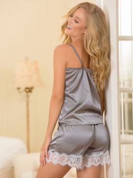Pyjama en satin 2 pièces - 7766