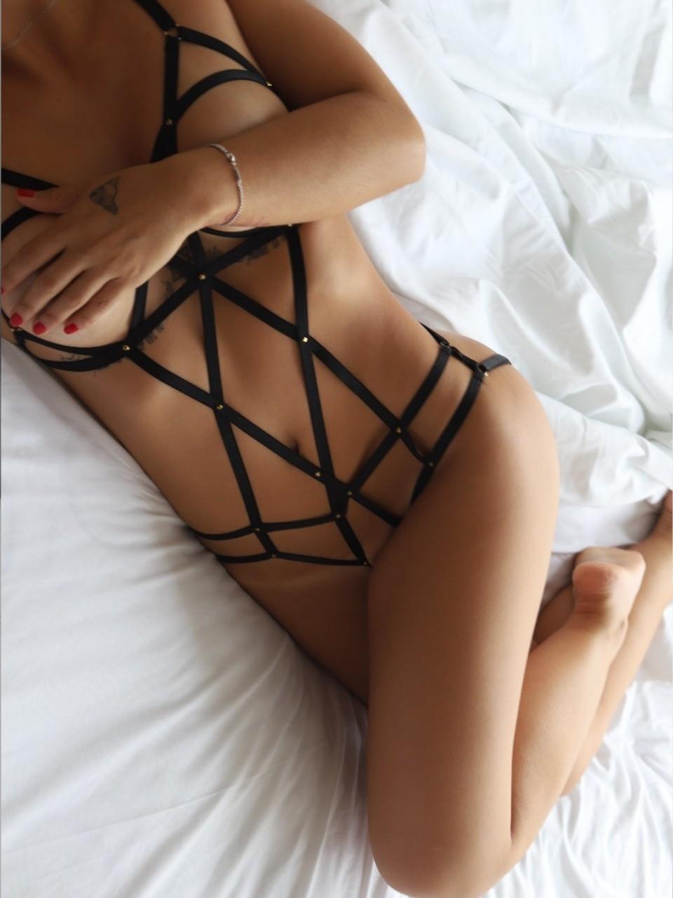 Body sensuel à lanières - Freyja